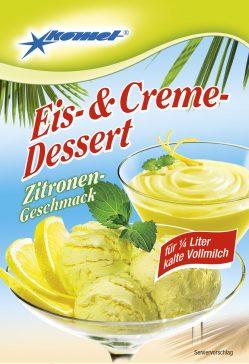 Komet Eis Dessert Zitrone